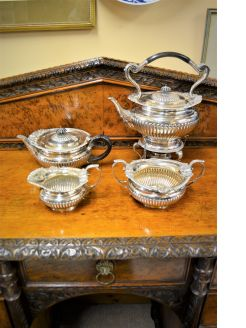 Four Piece victorian silver tea-set