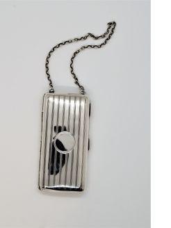 Silver cigarette case/ compact