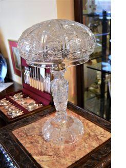 Cut glass lamp
