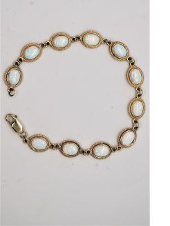 9ct gold & opal bracelet
