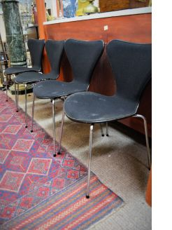 Set of four danish designer chairs
