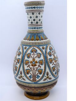 German mettlach pottery vase