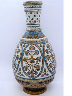 German mettlach pottery vase