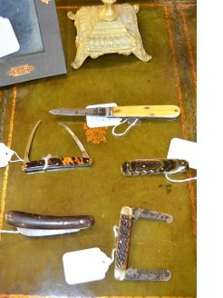 Selection of old pen/ fruit/ carving knives available