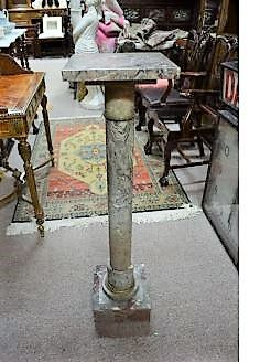 Marble pedestal/ pillar