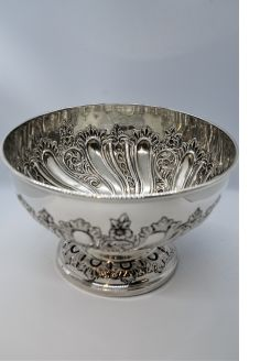 Silver victorian rose bowl