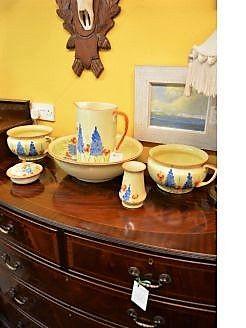 six piece porcelain jug & basin set