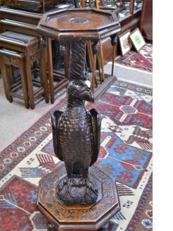 Carved oak pedestal