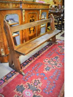 Victorian pitch pine pew / bench