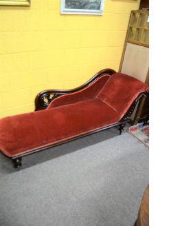 Victorian mahogany couch