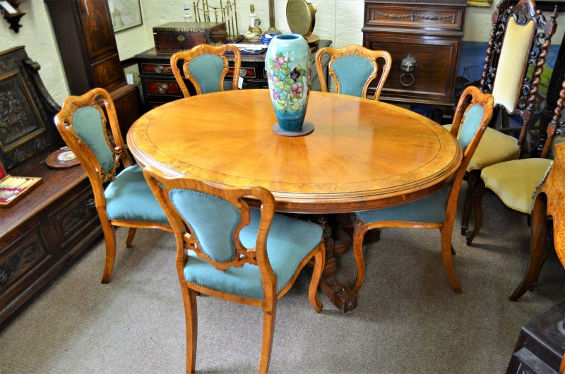 19th century pollard oak centre table
