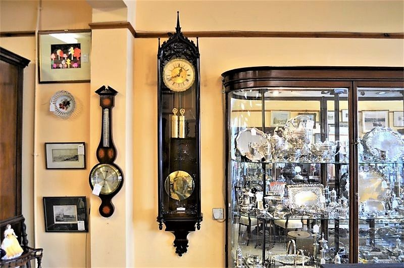 Late biedermeier gothic style striking vienna clock