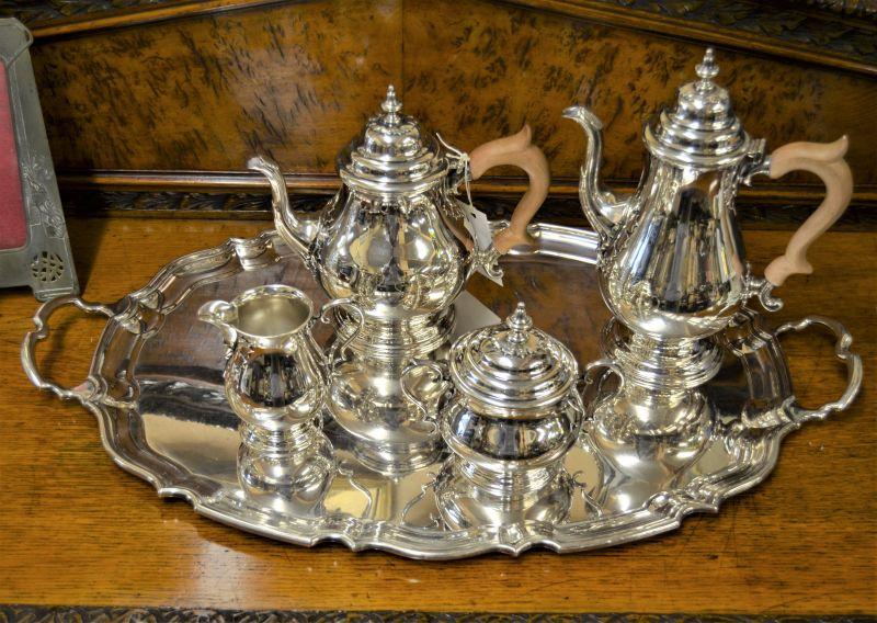 Five piece silver tea-set