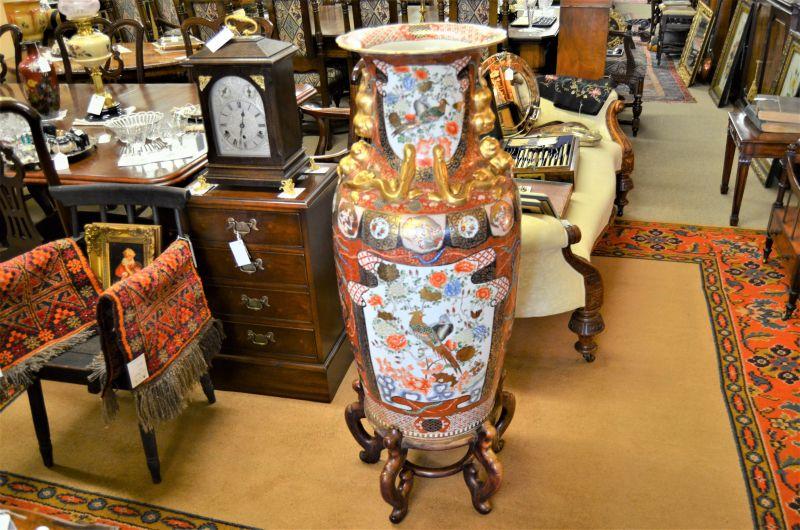 19th Century Japanese vase on stand