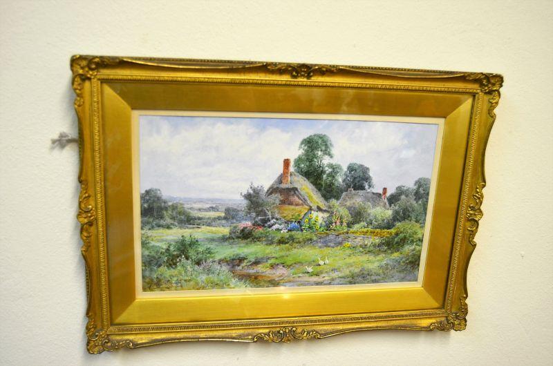 Watercolour in gilt frame