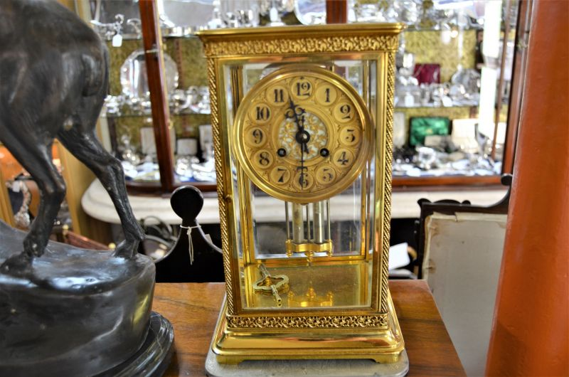 Victorian four glass mantle clock