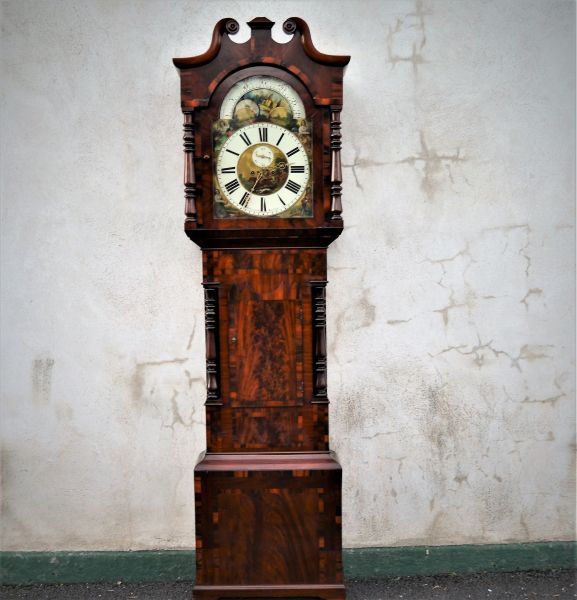 Mahogany cased grandfather clock