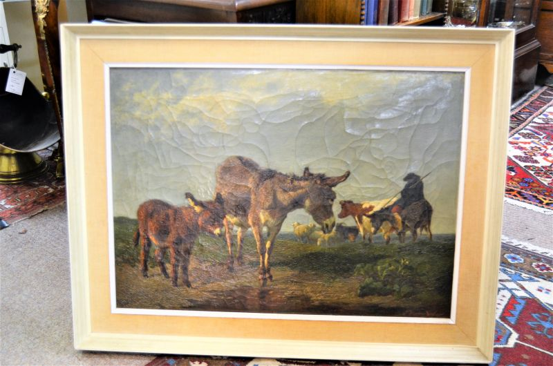 19th century oil painting ,signed