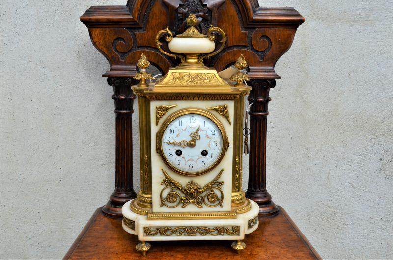 19th century marble & brass clock