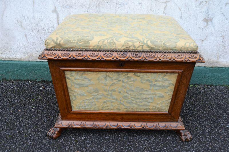 Victorian walnut ottoman