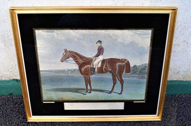 19th century engraving of the 1834 epson derby winner