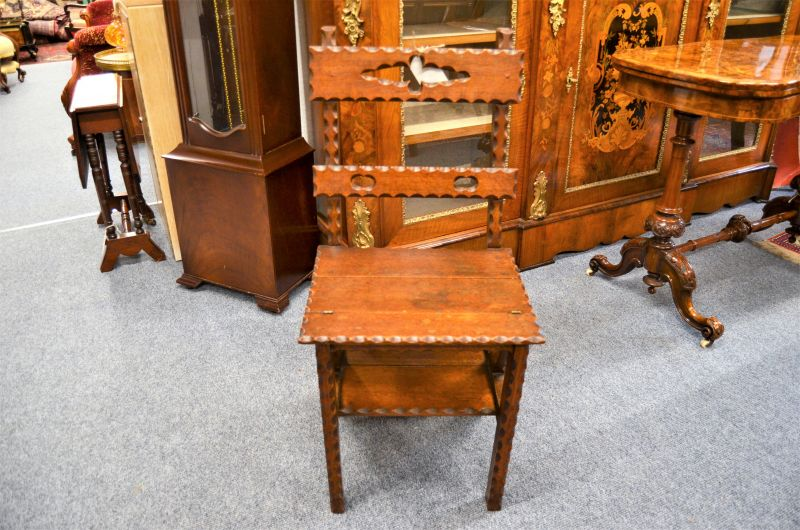 Victorian oak chair / library steps