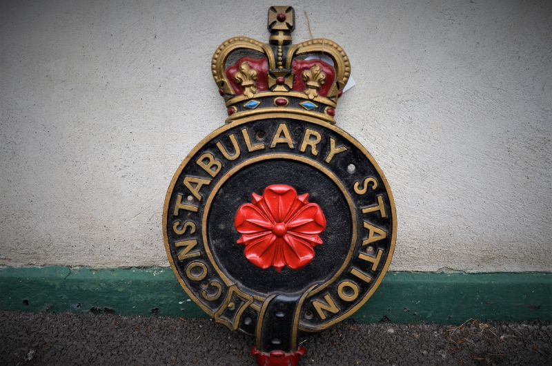 Old cast iron police plaque
