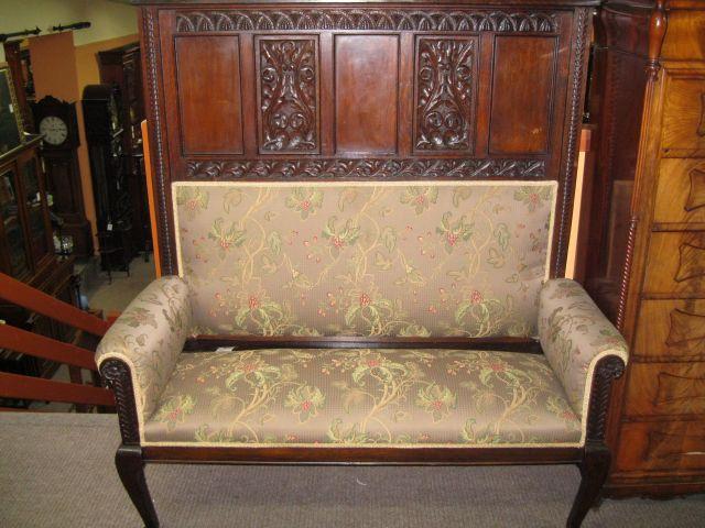 An 18th century oak bench