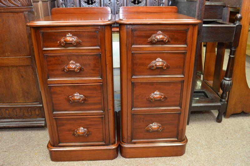 Pair of Victorian Mahogany Pedestals