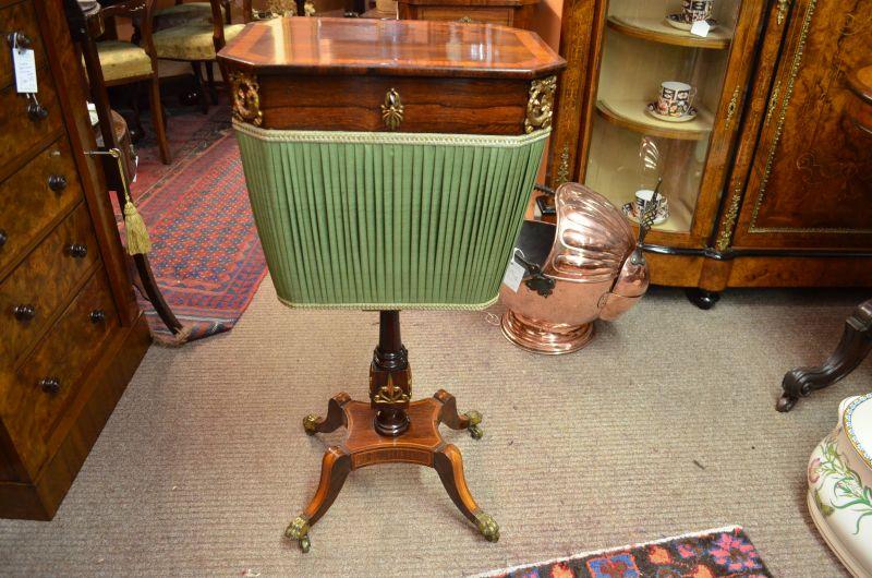 Regency rosewood sewing box