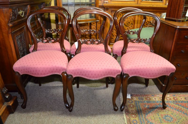 Set of six victorian style chairs