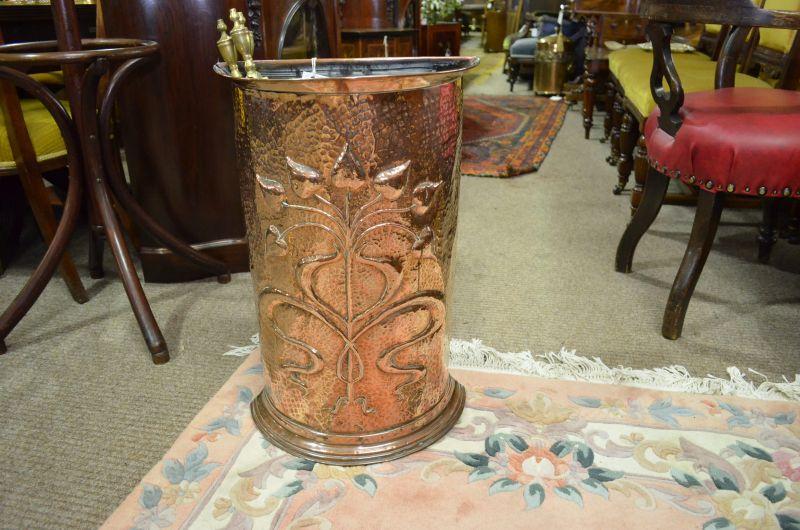 Copper umbrella stand