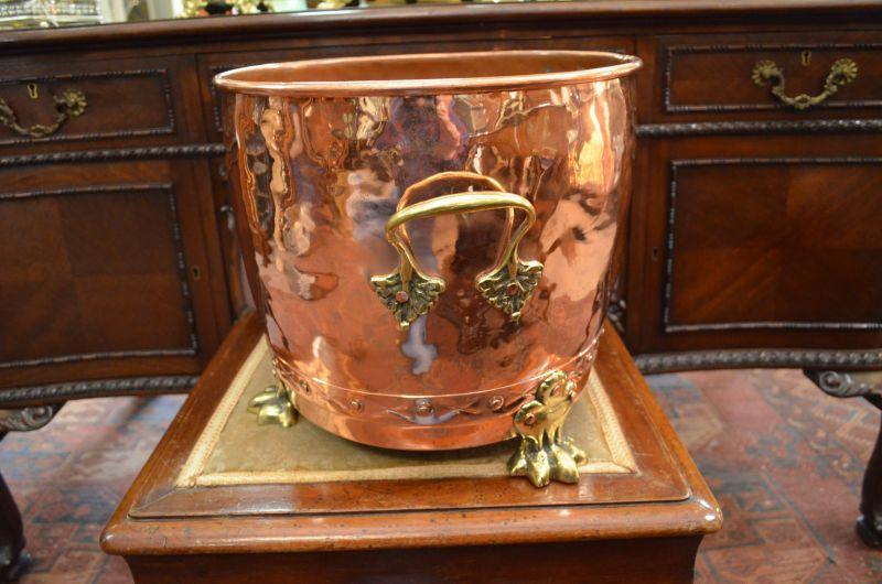 Copper & Brass coal bucket