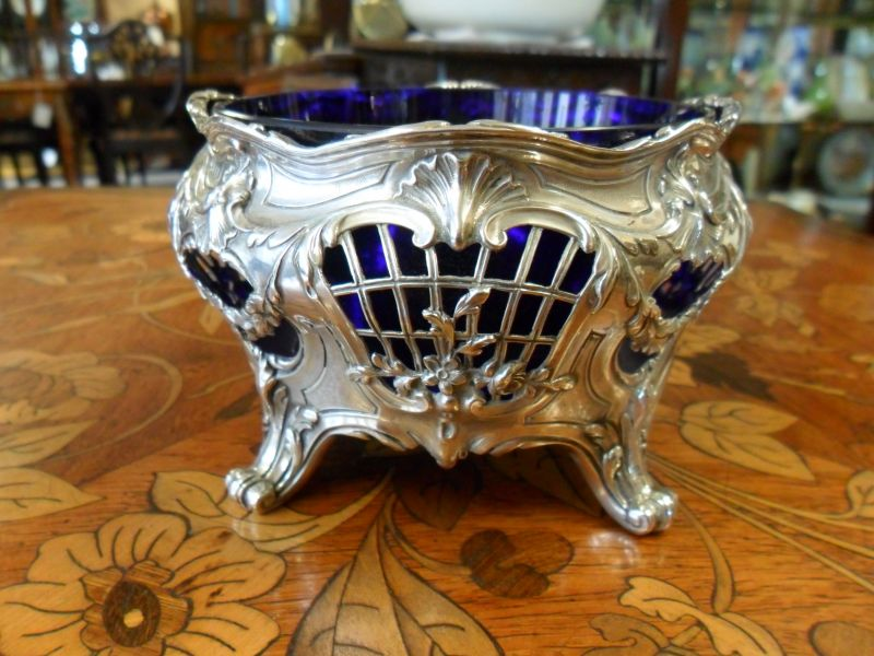 Silver Bowl & glass liner