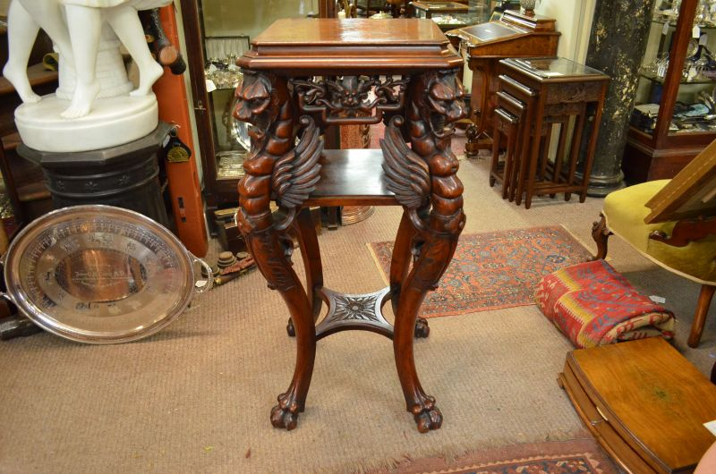 Mahogany carved pedestal