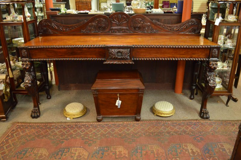 William IV Irish mahogany serving table