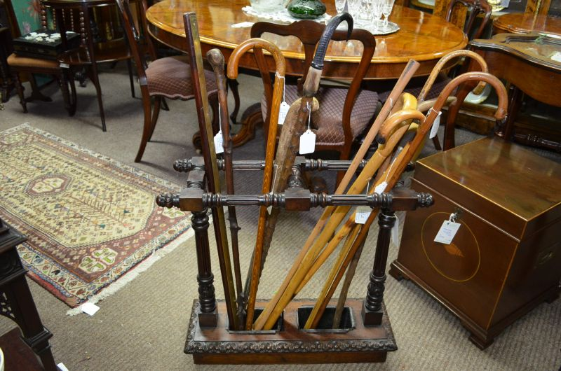Selection of walking sticks and stands