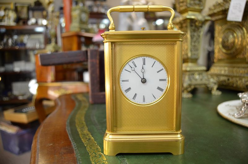 Brass cased repeater carriage clock