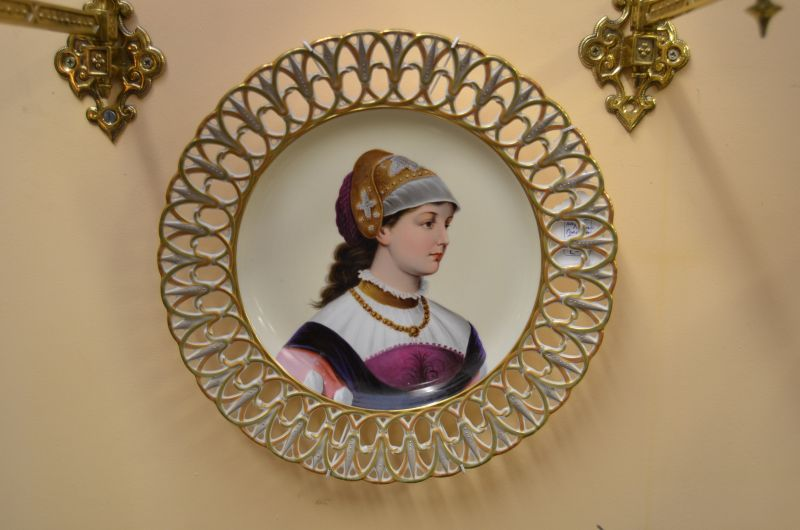 German hand painted porcelain plate