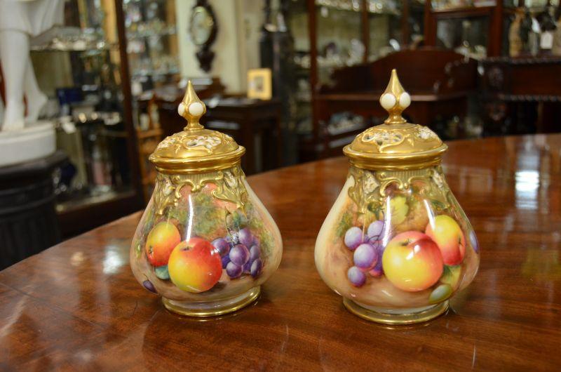 Pair of royal worcester vases