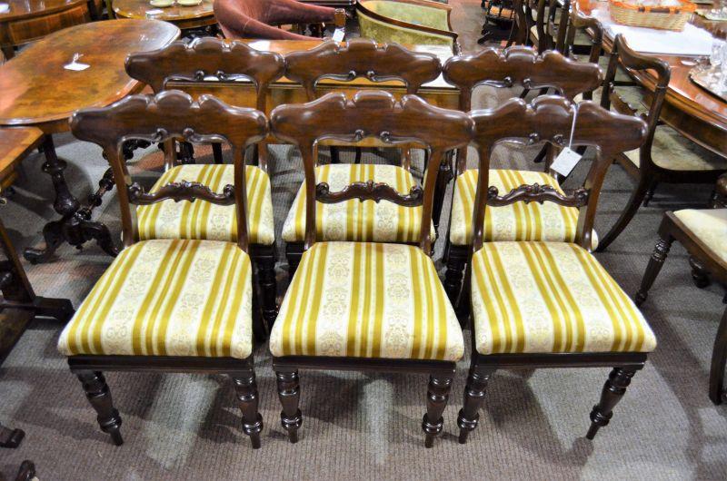 Set of six victorian mahogany chairs