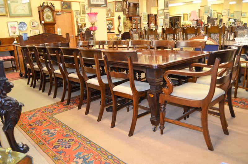 Set of eighteen georgian mahogany dining chairs