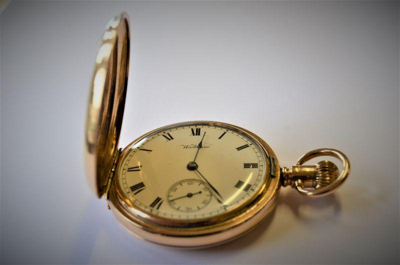 9ct gold waltham pocket watch