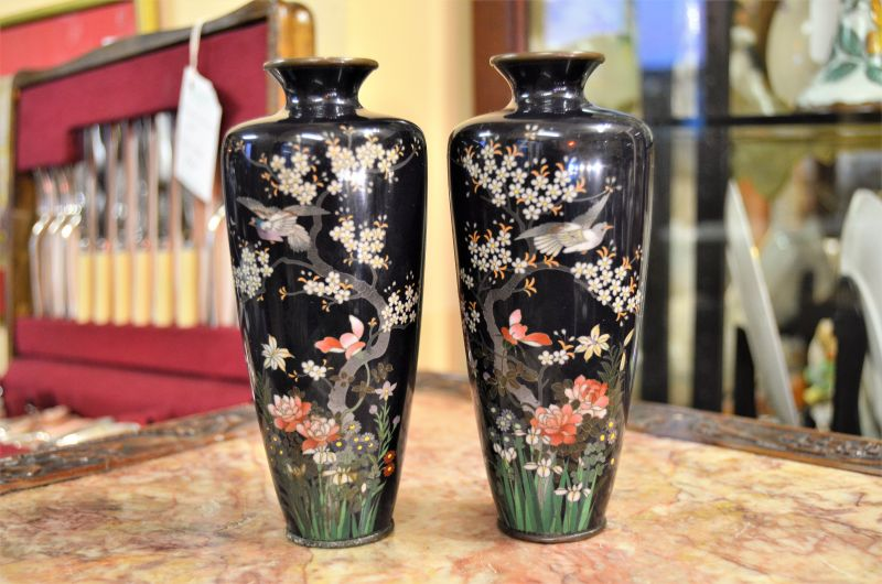 Pair of chinese Cloisonn� vases