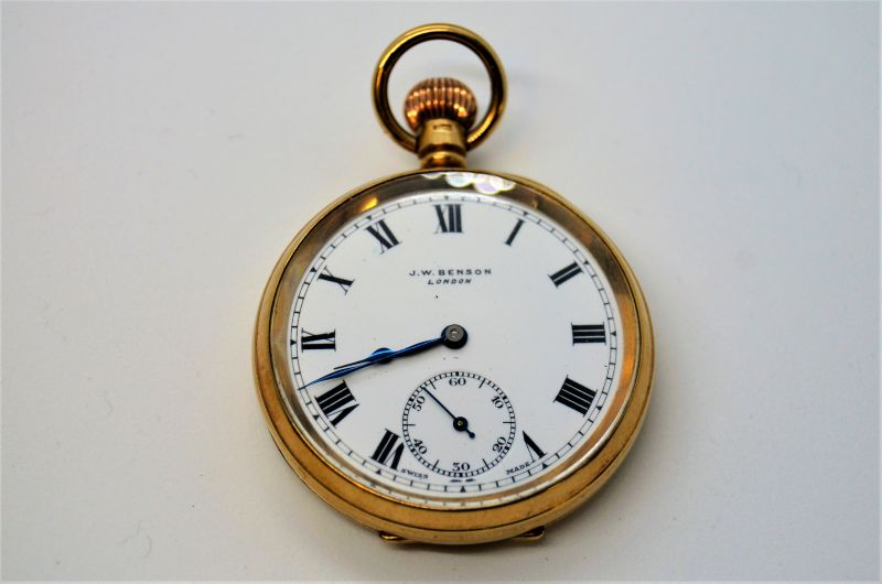 9ct gold pocket watch with case