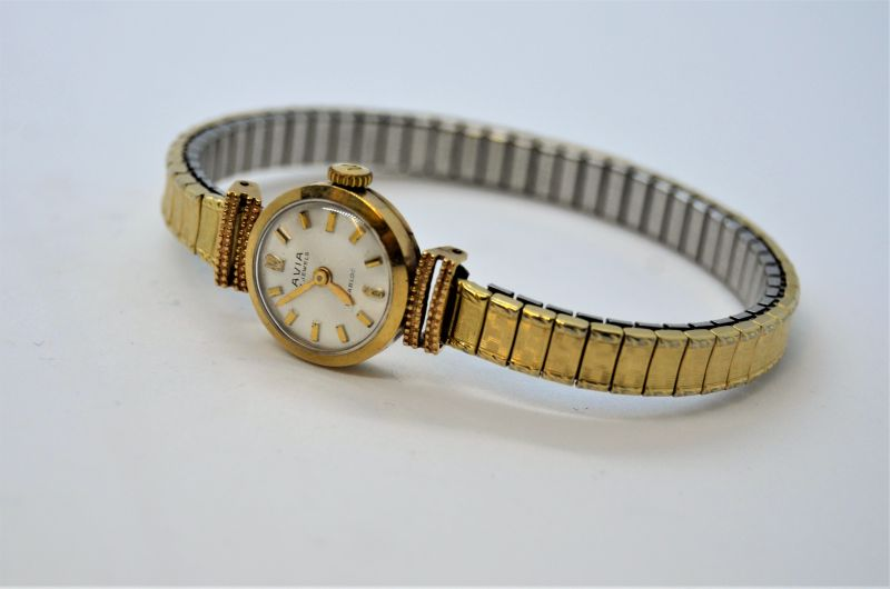 9ct gold ladies watch