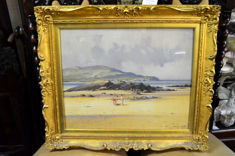 Gilt framed oil painting by local artist
